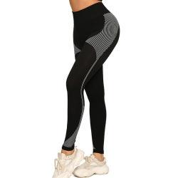 L'yoga Hip del sudore dell'umidità dell'umidità del Knit senza giunte ansima le ghette Hip sexy Sweatpants sexy dei pantaloni di forma fisica di sport per le donne