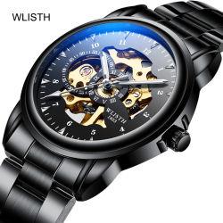 Montre Personnalisée hommes Sports de la courroie d'acier de l'homme montre-bracelet en acier inoxydable mécanique Watch Watch de gros de Guangzhou