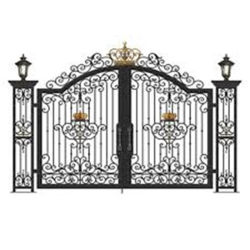 Acier fer clôture de sécurité portes d'entrée Jardin porte solides