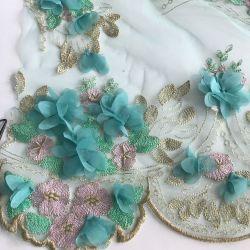 La broderie perlée, perles et pierres de la Broderie de fleurs sur le Net ou de la Dentelle