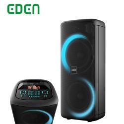 100W 고전력 더블 10인치 오디오 액티브 프로페셔널 무선 충전식 Bluetooth PA 스피커 사운드 박스