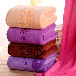 قماش تنظيف الألياف السحري من الألياف الدقيقة بحجم كبير مع مخصص الشعار