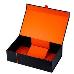 Usine bougie Manufacoture pot avec couvercle et boîte cadeau avec ruban Cardbord Paquet de luxe