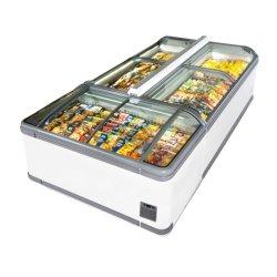 승인되는 R290 Secop 압축기 IEC를 가진 슈퍼마켓 섬 냉장고