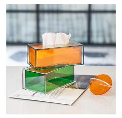 Современные Lucite акриловой ткани на лице дозирования Napkin держатель крышки прямоугольник в ванную комнату, кухню и офисном помещении