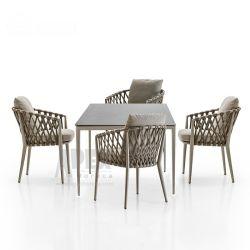 Casa de lazer personalizado As medulas Patio Bistro moderno jardim exterior mobiliário de jantar