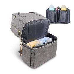 Compartimento principal dos plegable Best Seller multifunción Pañales Mochila para el exterior, Viajes