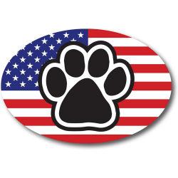 American Flag Oval pata com carro de impressão íman