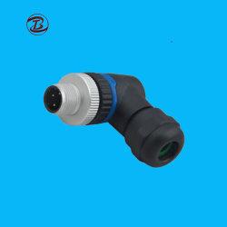 Imperméable en plastique de borne à vis M12 Cableconnector 4 broches