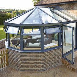 Neues wasserdichtes energiesparendes Temperament-Glasvorderseite Haus-Extensions-kleiner Wintergartendes aluminiumsun-Raumes