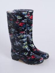 Lluvia de caucho Womans zapatos botas de goma de mascar de PVC para damas