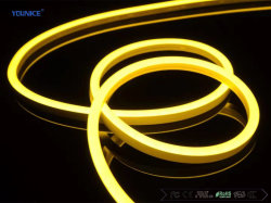 IP68 노란색 실리콘 LED 튜브 프로파일 다채로운 LED 플렉시블 스트립 네온