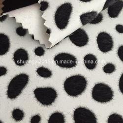 Имитация Horsehair Flocking PU кожа для сумок