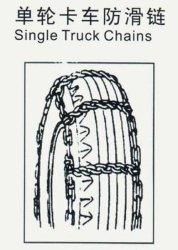 Ketting voor bescherming van de banden van een elektrovergalvaniseerde truck