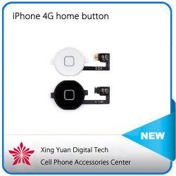 Bouton accueil pour iPhone 4G 4 Bouton d'accueil avec câble souple de couleur noir et blanc, touche noire ensemble chapeau pour iPhone 4 4G