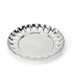 Hot-Sale délicate 20cm/22cm/24cm en acier inoxydable 410 plaque plaque dîner fruit rond