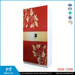 ミラーとの2つのドアの戸棚の金属/Almirah鋼鉄デザイン