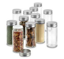 80ml 3ozのシェーカーのふたが付いている円形のガラス乾燥のスパイスのびんの瓶。 ガラス製品