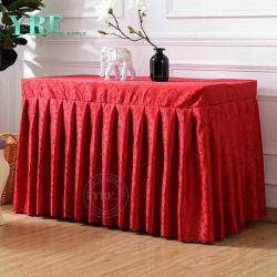 Commerce de gros Banquet populaire Organza Table ébouriffé plinthes Designs pour la nappe de mariage