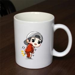 11oz directamente de la Copa de cerámica taza de café / / impresos personalizados taza de café