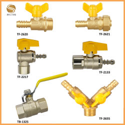Латунные остановить газовый клапан шарового клапана (TF-2620)
