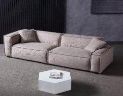Estilo escandinavo diseñador Simple salón sofá de cuero