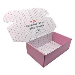 Impreso a doble cara personalizada Tuck arriba caja de cartón corrugado de envío de mailing para Cosmética ropa zapatos