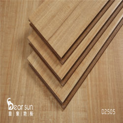 مهندس عريض ذو شقين 12 مم الأرضية الخشبية الصلبة أرضية خشبية مصقولة متعددة الطبقات