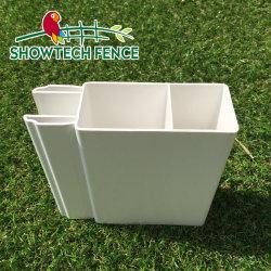 قضبان مضلّعة مشقوقة بقطر 2 بوصة × 6 بوصة من البلاستيك PVC Fence