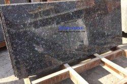 Surface solide granit Blue Pearl pierre naturelle avec comptoir en granite Sraight Nez, musoir, de la facilité Edge