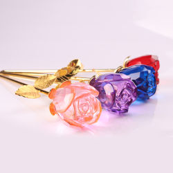 Petite Fleur, de cristal de verre coloré rose pour les faveurs de mariage (KS19016)
