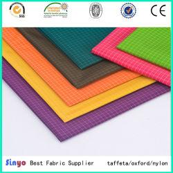 Peso do revestimento de PU Ripstop Tecido de poliéster de nylon para roupa com aerado