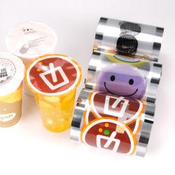 Nahrungsmittelgrad-transparenter Verpacken- der Lebensmittelglanz-freie heiße Dichtungs-Film-Mattplastikrolle für Papiercup/Plastikcup mit Firmenzeichen