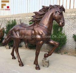 La decoración de arte personalizadas jardín gran caballo de la ejecución de la escultura de bronce data (GSBR-538)