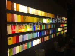 Fournisseur chinois de 3mm Feuille de verre teinté avec 500 couleurs