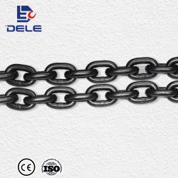 Il commercio all'ingrosso della Cina Hangzhou Dele fornisce la catena saldata industriale nera resistente della catena a maglia dell'acciaio inossidabile G80 di 6X18mm