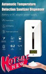 Detección automática de temperatura Dispenser higienizador