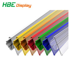 Plastic supermarkt Shelf Data Strip Label houder Prijs Tag houder