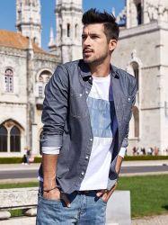 De Schist van de Jeans van de Blouse van de Nieuwe van de Manier van mensen Lange van de Koker Pop van de Lente Outwear van de Herfst van de Vrije tijd Hoogste van de Zakken Jongen van de Straat