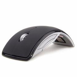 ラップトップのパソコンのデスクトップのための無線マウス2.4GコンピュータマウスFoldable旅行ノートの黙秘者マウス小型マウスUSBのNano受信機