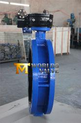 Worm Gear에서 작동하는 U-Section 이중 플랜지 버터플라이 밸브