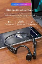 H11 écouteurs sans fil Bluetooh aide auditive à conduction osseuse des écouteurs écouteurs