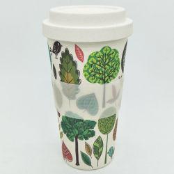 Tazza di caffè di bambù biodegradabile riutilizzabile ecologica della fibra per il latte del tè della spremuta