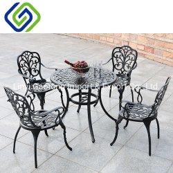 4 Seater Gussaluminium-Patio-Tisch, der gesetztes Metallim freienmöbel-Garten-Set speist