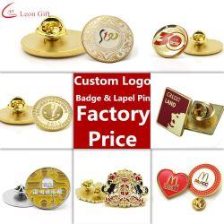 A fábrica de metais personalizados esmalte Ouro Pin de lapela Badge