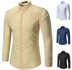 Usura convenzionale occidentale all'ingrosso per la maglietta variopinta del vestito da affari del Mens di disegno degli uomini