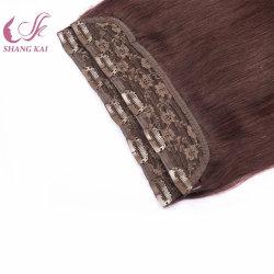 Estensioni umane naturali dei capelli del Virgin dissipate doppio poco costoso all'ingrosso con le clip
