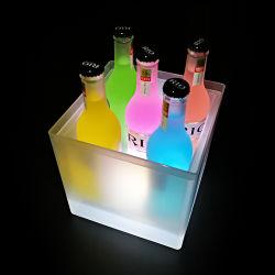 Bar용 고품질 플라스틱 LED 조명이 들어오는 아이스 버킷