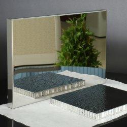Acabado de espejo en forma de panal de aluminio Panel compuesto para la decoración del hogar