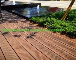 炭化された屋外の環境の防水合成の軽い繊維によって編まれるタケ床